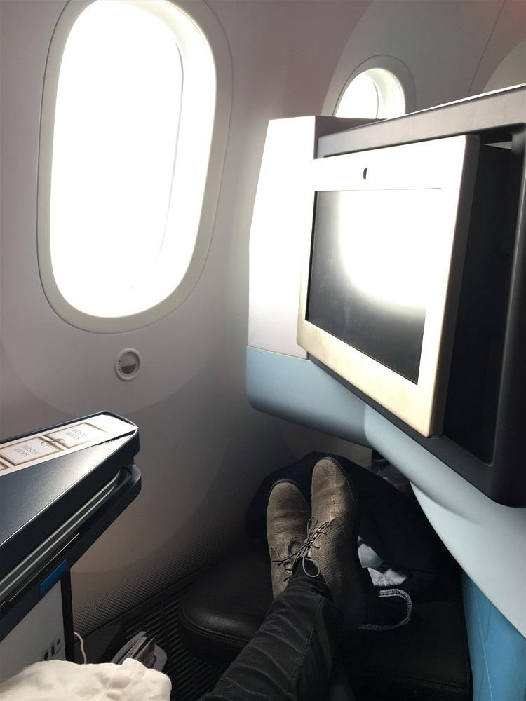 Business class vliegen